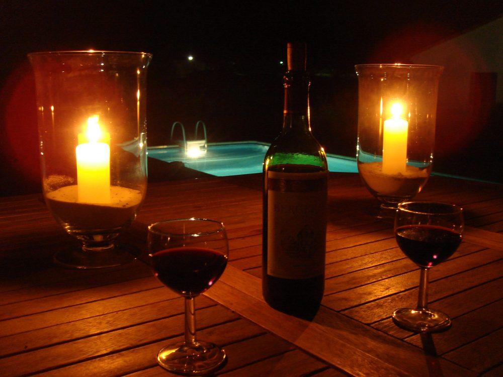 401 avondfoto bij het zwembad