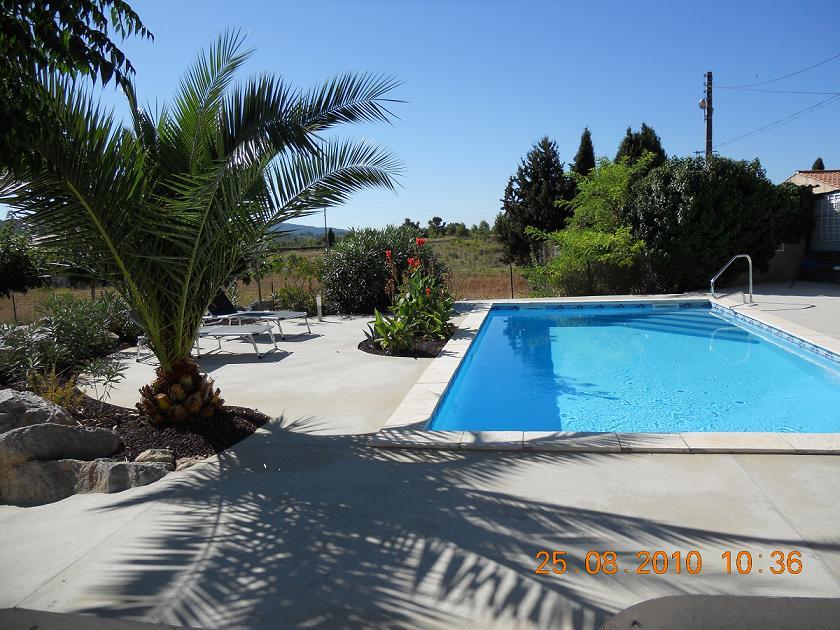 Zwembad vakantiehuis Azillanet