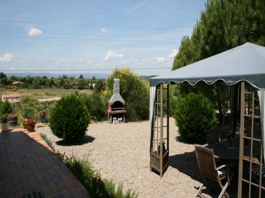 Tuin vakantiehuis in Montbrun