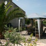 Tuin en uitzicht vakantiehuis Languedoc